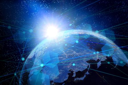 Photo pour global technology network image - image libre de droit