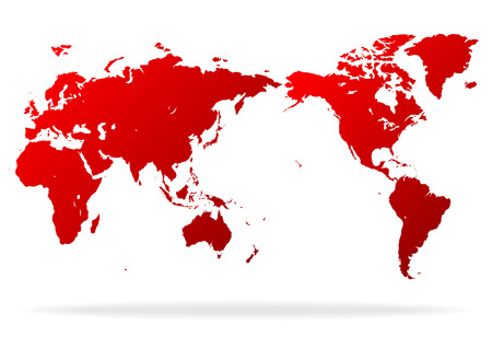 Illustration pour red world map - image libre de droit