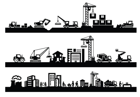 Foto per construction icons - Immagine Royalty Free