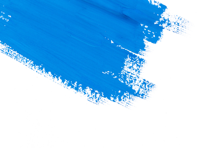 Photo pour stroke blue paint brush color water watercolor isolated on white background - image libre de droit