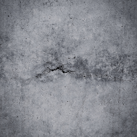 Photo for Grungy cracked concrete wall and floor as background texture - Royalty Free Image
