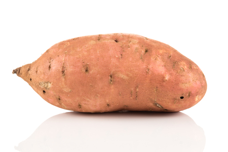 Photo for Sweet potato batata on the white background isolated - Royalty Free Image