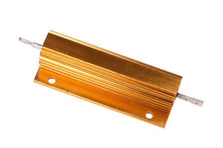 Photo pour Resistor in Metal Case Isolated - image libre de droit