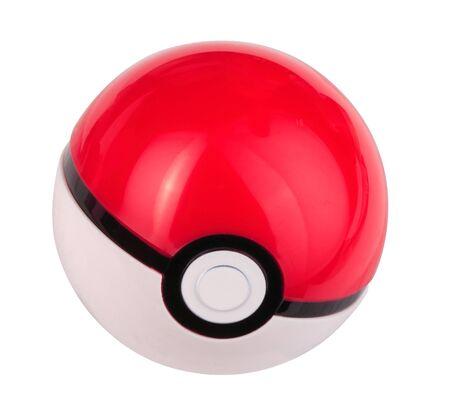 Foto de plastic game toy ball isolated - Imagen libre de derechos