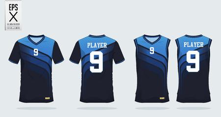 Illustration pour Sports shirt design illustration - image libre de droit