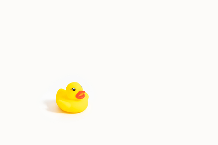 Photo for isolated yellow rubber duck on white - Royalty Free Image