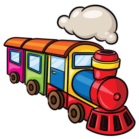 Ilustración de Illustration of cute cartoon train. - Imagen libre de derechos