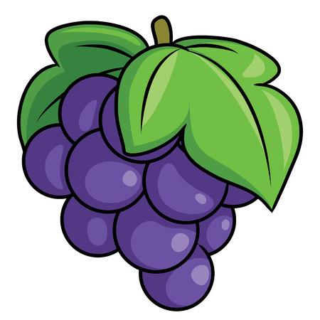 Illustration pour Illustration of cute cartoon grape. - image libre de droit