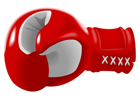 Vector illustration of red boxing glove