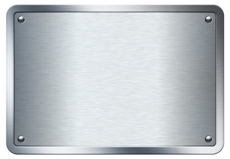 Stock image of a metal plate isolated on white background