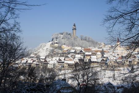 Foto de Winter in Stramberk city, little town in Moravia, Czech Republic - Imagen libre de derechos