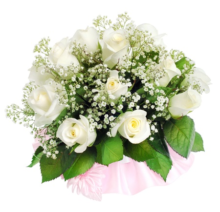 Wedding bouquet on a white background