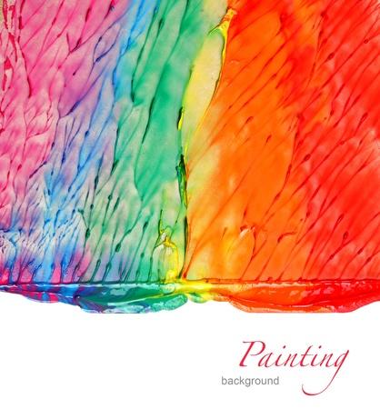 Photo pour Abstract acrylic hand painted background - image libre de droit