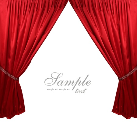 Photo for Red theater curtain background - Royalty Free Image