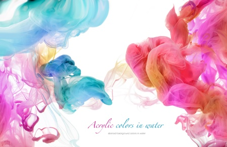 Photo for Acrylic colors in water. Abstract background. - Royalty Free Image