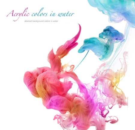 Photo pour Acrylic colors in water. Abstract background. - image libre de droit