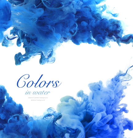 Photo for Acrylic colors and ink in water. Abstract background. - Royalty Free Image