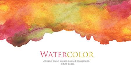 Photo pour Abstract watercolor brush strokes painted background. Texture paper. - image libre de droit