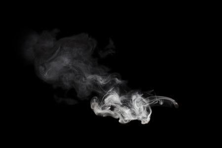 Photo for white smoke blot isolated on black - Royalty Free Image