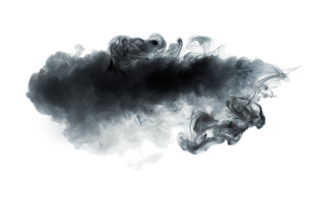 Photo for Black smoke isolated on white - Royalty Free Image