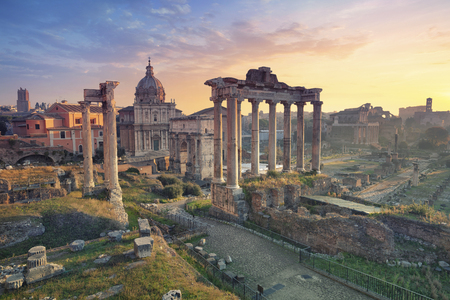 Photo for Roman Forum. Image of Roman Forum in Rome, Italy during sunrise. - Royalty Free Image