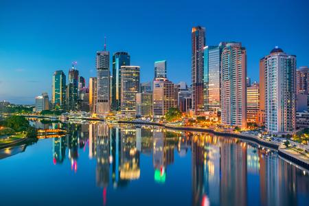 Photo pour Brisbane. Cityscape image of Brisbane skyline, Australia during sunrise. - image libre de droit