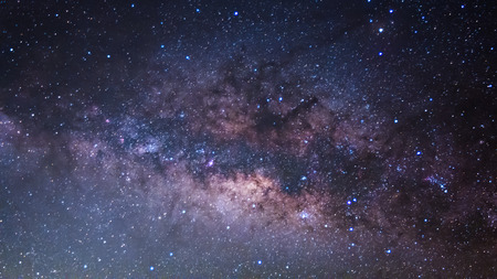 Photo for The Panorama Milky Way ,Long exposure photograph. - Royalty Free Image