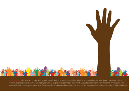 Illustration for Hands  Abstract background for design, vector illustration  - Royalty Free Image