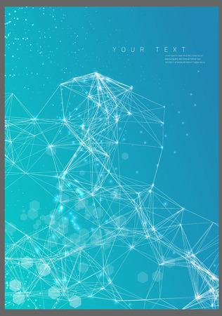 Illustration pour Abstract poster technological network - image libre de droit