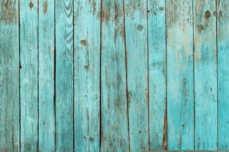 Photo pour Battered old wooden blue wall. Background texture - image libre de droit