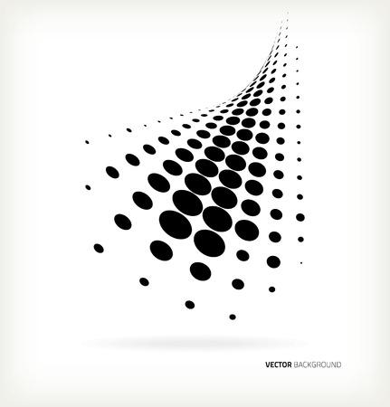 Illustration pour Vector halftone dots abstract background - image libre de droit