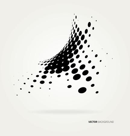 Illustration pour Vector halftone dots. - image libre de droit