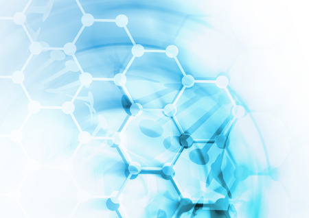 Foto de DNA molecule structure background. Abstract blur illustration - Imagen libre de derechos