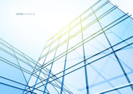 Ilustración de Abstract building from the lines. Vector illustration - Imagen libre de derechos