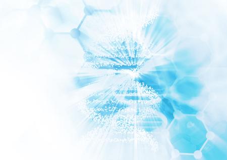 Foto de DNA molecule structure background. Abstract blur illustration - Imagen libre de derechos