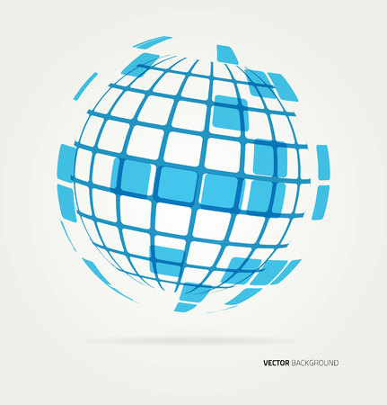 Illustration for Abstract image of a globe lines. Vector - Royalty Free Image