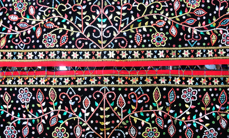 Photo for Langkit embroidery from the Dusun Tindal tribe in Sabah Borneo Malaysia. - Royalty Free Image