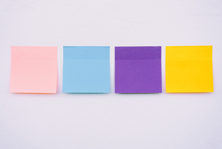 Photo for Colorful sticky paper on a wall, pastel colors. - Royalty Free Image