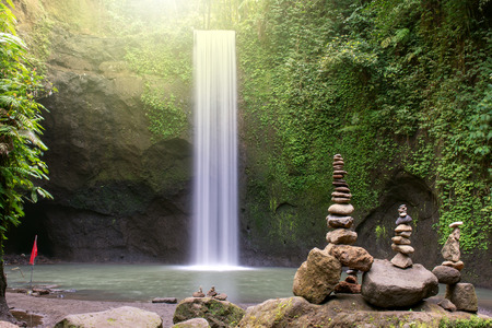 Photo for Beautiful Tibumana waterfall in Bangli, Bali Indonesia - Royalty Free Image