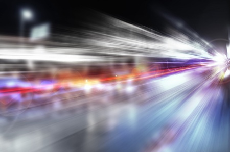 Photo pour abstract night acceleration speed motion - image libre de droit