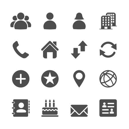 Illustration pour website contact icon set, vector eps10. - image libre de droit
