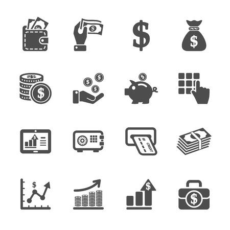 Illustration pour money and finance icon set - image libre de droit