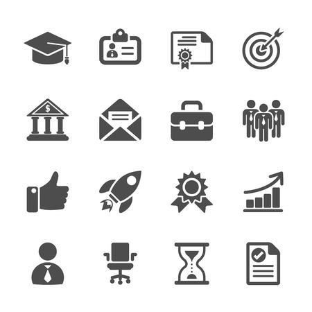 Illustration pour business career work icon set, vector eps10. - image libre de droit
