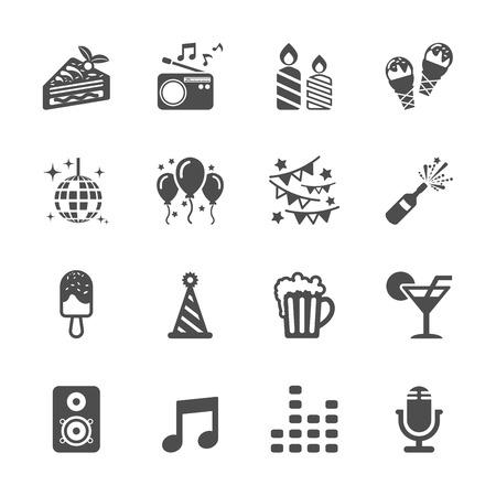 Illustration pour celebration and party icon set - image libre de droit
