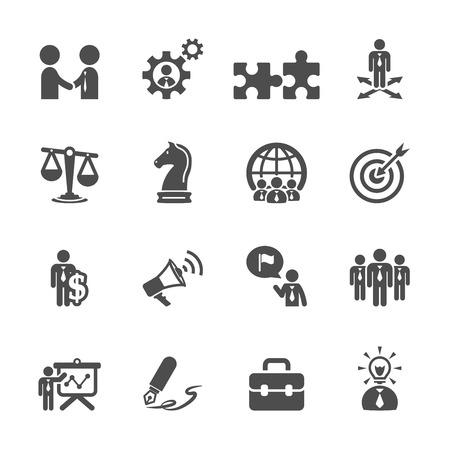 Illustration pour business and strategy icon set - image libre de droit