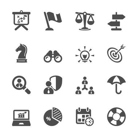 Illustration pour business and strategy icon set 2 - image libre de droit
