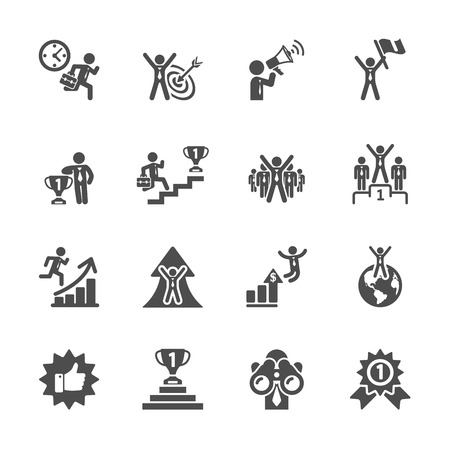 Illustration for business success icon set - Royalty Free Image