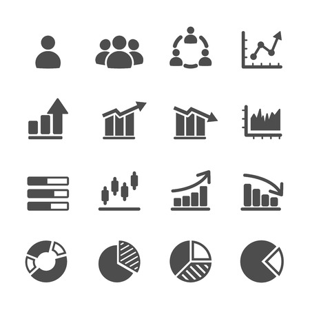 Illustration for infographic and chart icon set - Royalty Free Image