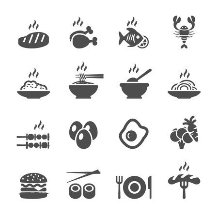 Ilustración de food icon set, vector eps10. - Imagen libre de derechos