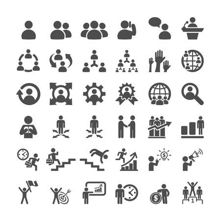 Ilustración de business icon set, vector  - Imagen libre de derechos